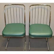 1950s kitchen furniture 1950s chrome vinyl kitchen chairs set of four chairish