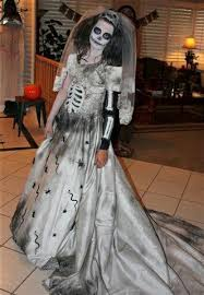 wedding dress costume day of the dead i made this dress out if an wedding