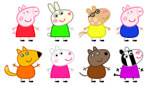 peppa pig and friends coloring pages print kids coloring