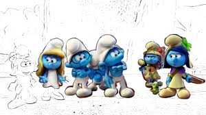 smurfs fun coloring pages video for kids smurfs the lost