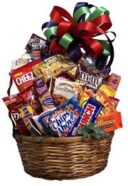 junk food gift baskets junk food basket gift baskets more flowers and decor by
