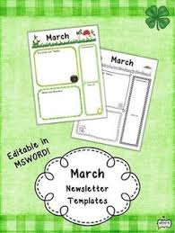 newsletters for march for your classroom i hope you enjoy using