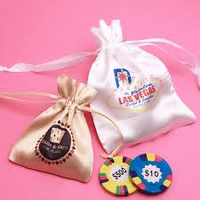 personalized favor bags casino personalized satin drawstring favor bag las vegas wedding