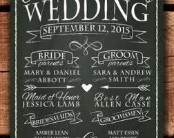 wedding program chalkboard best 25 wedding program sign ideas on wedding program
