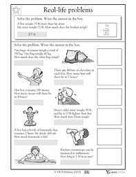 collections of 3rd grade word problem worksheets wedding ideas