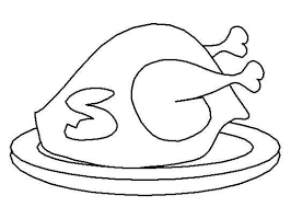cooked turkey free printable coloring activity pages