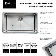 kraus khu100 30 kitchen sink build com