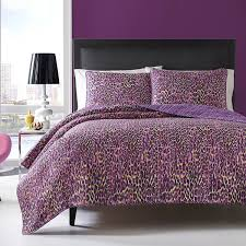 amazon com betsey johnson quilt set twin multi leopard home
