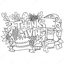 draw element thanksgiving doodle stock vector