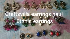 craftsvilla earrings craftsvilla earrings haul ethnic earrings