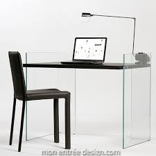 bureau console bois bureau design en verre et bois scribe monentreedesign com