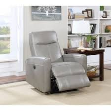 Grey Leather Recliner Staten Grey Premium Top Grain Leather Recliner Chair Free