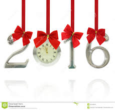 2016 number ornaments with clock stock photo image 52750612