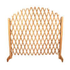 free shipping oypla expanding freestanding wooden trellis fence