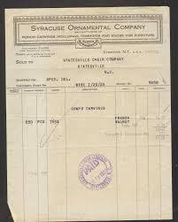 1924 billhead receipt syracuse ornamental company new york ny