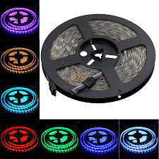 rgb led strip lighting 5m smd 5050 rgb led strip waterproof 300 leds light flexible 60 m