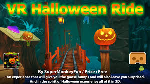 the spirit of halloween vr halloween ride a colorful 3d vr fun ride of holloween for