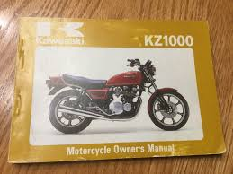 kawasaki kz1000 nos owners manual u2022 40 00 picclick