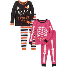 Toddler Halloween Shirt by Halloween Baby Toddler Cotton Tight Fit Pajamas 4 Piece Set