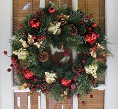 queensbury decorated wreath 22 inch all