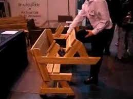 Free Woodworking Plans Folding Picnic Table by The Folding Table Garden Bench Which Converts To A Picnic Table