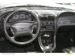 2000 Black Mustang Gt 2000 Ford Mustang Gt Convertible Dark Charcoal Dashboard Photo