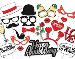 celebrating 60 years birthday 60th birthday photobooth party props set 26 printable