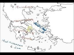 blank map of ancient greece ancient greece map