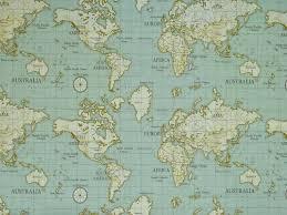 africa map fabric maps 100 cotton fabric curtain fabric