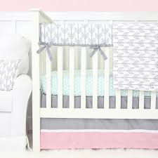 Pink And Gray Crib Bedding Pink And Grey Crib Bedding Caden