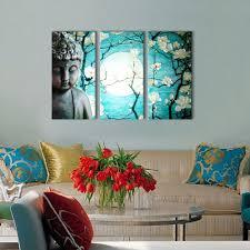 Wall Paintings Designs Buddhist Love Calmness Buddha Painting Designs 12