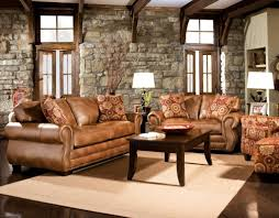 rustic living room furniture ideas with brown leather sofa furniture charming light brown leather sofa decorating ideas