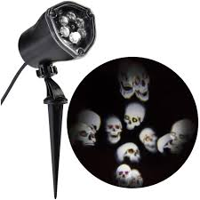 skull decorations for the home halloween projection u0026 spot lights outdoor halloween decorations