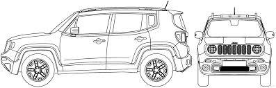 jeep drawing the blueprints com blueprints u003e cars u003e jeep u003e jeep renegade 2016