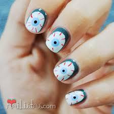 imagenes de uñas decoradas de jalowin uñas decoradas de halloween ojos sangrientos manisdehalloween