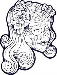 dead skull coloring coloring