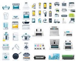 icone bureau gratuit cuisine appareils u0026 bureau icône vector vector icon vecteur