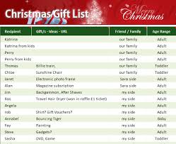 christmas gift list my excel templates