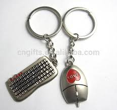 cute key rings images Unique keyboard mouse zinc alloy metal paired key chain lovers jpg