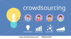 crowdsourcing design crowdsourcing business vector flat design flyer stock vector
