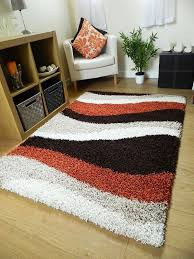 coffee tables area rugs with orange accents white fluffy rug