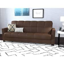 craigg sofa with twin sleeper chocolate walmart com