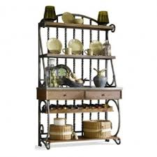 Sei Bakers Rack Bakers Racks With Wine Storage Foter
