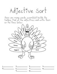 thanksgiving adjectives mini lesson by mrs harmon tpt