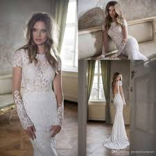 discount bridal gowns lace wedding dresses mermaid 2016 berta bateau neck