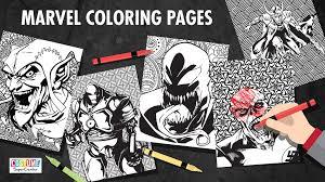 marvel villains printable coloring pages costume supercenter blog