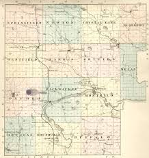 Wisconsin Lake Maps by Marquette County Wisconsin History 1878