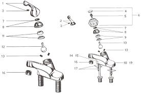 repair single handle kitchen faucet single lever bathroom faucet repair donatz info