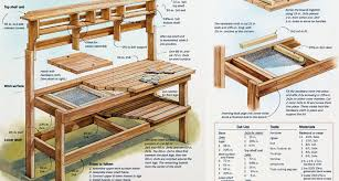 potting table with sink potting table plans sink tierra este 29197