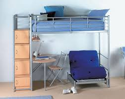 Metal Bunk Bed With Desk Underneath Bedroom Enchanting Loft Bed With Futon For Inspiring Unique Bed